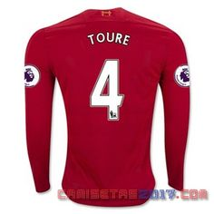 Camiseta manga larga Toure Liverpool 2016 2017 primera