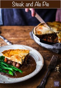 Steak and Ale Pie (step by step guide + recipe video) - ProperFoodie Beef And Ale Pie, Steak Ale Pie, Steak And Ale, Scottish Recipes, Turkish Recipes, Romanian Recipes, British Recipes, Beef Recipes, Cooking Recipes