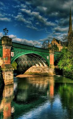 Great Western Bridge in Glasgow, Scotland. The Kelvin river seen here is Glasgow's second most important river; bridged at several points during its 22 mile course. This is at the city's West End,. The Places Youll Go, Places To See, Magic Places, Great Western, Thinking Day, Scotland Travel, Scotland Uk, British Isles, Belle Photo