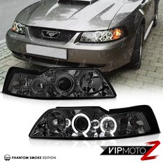 Projector Headlights, Led Projector, Ford America, New Edge Mustang, Halo Led, Led Angel Eyes, 2004 Ford Mustang, High Beam, Motor Parts