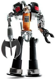 Incredible Robot Sculptures Made from Old Electronic Parts