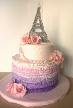Paris themed cake for a 16th birthday