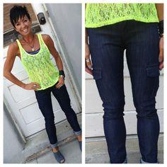 Thinking back to school with these dark cargo skinny jeans $48! #skinnyjeans #jeans #cargo #backtoschool #denim #lace #neon $32 @hoopla_earrings #hooplaearrings $15 #leather #bracelet $18 @karmaboutiqueonmain #karmaboutiqueonmain #pleasantgrovecity #utah #utahfashions #utahboutiques #shopsmall #shoplocal #weship #goodkarma #callme 8017961121