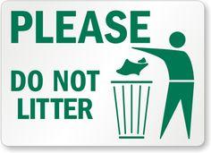 Do Not Litter Signs - Don't Be a Litterbug Signs - ClipArt Best - ClipArt Best