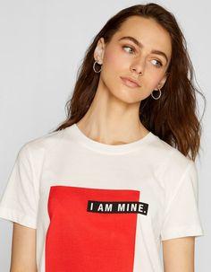 T-shirt I am mine - T-shirts Shirt Print Design, Tee Shirt Designs, Tee Design, Graphic Shirts, Printed Shirts, Cool Shirts, Tee Shirts, Buy T Shirts Online, T Shirt Painting