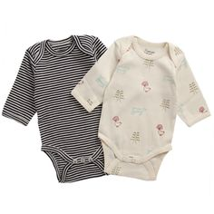 2 Pack Long Sleeve bodysuits | Natural Organic Bio Baby Products: Organic Cotton & Merino Wool