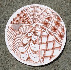 Zendala by Certified Zentangle Teacher Sue Jacobs