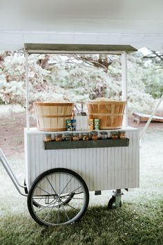 Wedding popcorn cart.  Jacoby Photo and Design | St. Louis wedding