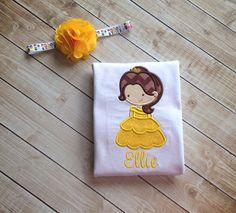 Princess Belle shirt by KoutureKid on Etsy