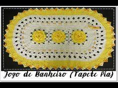JOGO DE BANHEIRO AMARELO- TAPETE PIA - YouTube