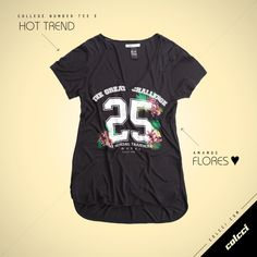 #Colcci #T-Shirt #CollegeNumber #Vintage #SportChic