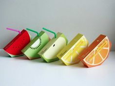 Surely everyone would drink fruit juice if they looked like this, very creative!