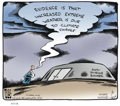Evidence is that increased extreme weather is due to climate change.    Tom Toles on Gocomics.com