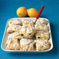 A hint of orange hides in the sweet glaze of these tender scones.