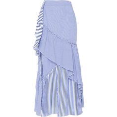 Tanya Taylor     Menswear Stripe Jules Skirt (10 860 UAH) ❤ liked on Polyvore featuring skirts and stripe