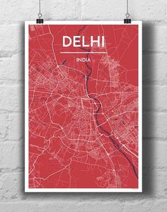 Delhi City Map - Point Two Design Group Inc. - City Map Prints - 1