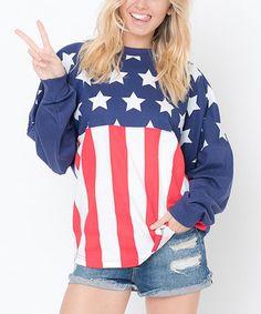 Look what I found on #zulily! Navy Flag Boyfriend Sweatshirt #zulilyfinds