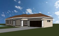3 Bedroom house plan, a truly South African House Design Four Bedroom House Plans, Tuscan House Plans, Free House Plans, Simple House Plans, Beautiful House Plans, Garage House Plans, Modern Courtyard, Courtyard House Plans, House Plans South Africa
