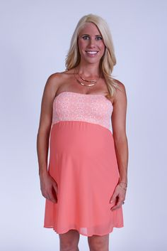 Look what I found on Heritwine Maternity Coral Tribal Maternity Strapless Dress by Heritwine Maternity Maternity Boutique, Maternity Fashion, Spring Maternity, Friend Outfits, Strapless Dress, Coral, Style Inspiration, Formal Dresses, How To Wear