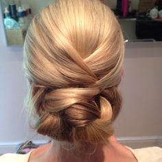 Rehearsal pictures. Nothing is polished, but they're great for brides to get some ideas on shape and what their hair will and won't do! Look at our other boards for perfect Bridal Hair when polished!!   Curls, Hair up, wedding hair, extensions. Bridesmaids. Asymmetric, bun, soft, Pleat, wavy, pearl pins, tiara.