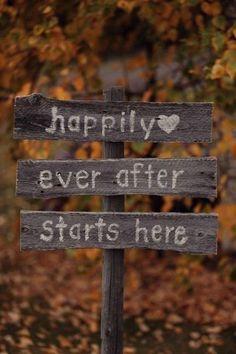 rustic wedding signs, hand painted wedding decor, fall wedding decor idea #2014 Valentines Day www.dreamyweddingideas.com