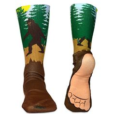 e2f45f411d417 Lacrosse Printed Mid Calf Socks Big Foot - LARGE - fits Men's Shoe size 10-
