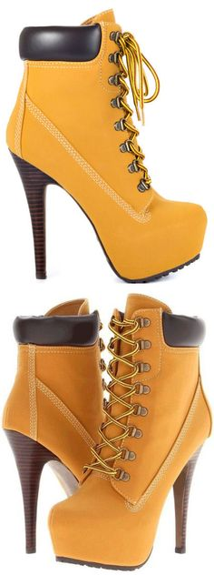 OMG!!! I want these timberlands next my fat solid heel is tough but these are 10X fucking sexier!!!