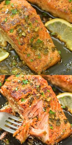 This Cajun Salmon recipe is an ultra-easy and flavorful dinner to make during yo.This Cajun Salmon recipe is an ultra-easy and flavorful dinner to make during your busy weeknights. It's ready in less than 30 minutes. Visit Cooktoria for detai Salmon Dishes, Fish Dishes, Seafood Dishes, Cajun Dishes, Seafood Platter, Seafood Pasta, Salmon Recipe Videos, Recipe Salmon Filet, Healthy Recipes