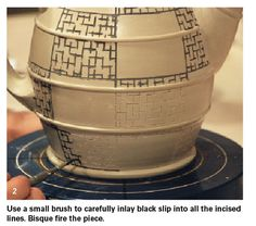 Making thin lines on pottery is a challenge with a slip trailer, but there are a couple other options that can get the job done: mishima, slip inlay with wax, and maybe some others.  In today's post, we'll focus on slip inlay with wax. Doug Peltzman uses this technique, combined with some latex resist... Read More »