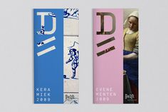 Known around the world for its famous blue pottery and the domestic scenes of Vermeer, Delft is one of the Netherlands' most historic cities. However, there is more to Delft than heritage. Museum Branding, City Branding, Event Branding, Branding Design, Vejle, Graphic Design Brochure, Flyer Design Inspiration, Leaflet Design, Brand Book