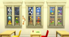 Sims 4 CC's - The Best: Windows Deco by budgie2budgie
