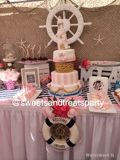 Nautical baby girl shower!