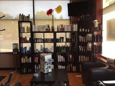 Retail area / waiting area! #salon #salonproducts #receptionarea