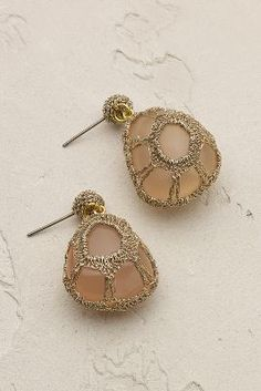 Zari earrings with crochet