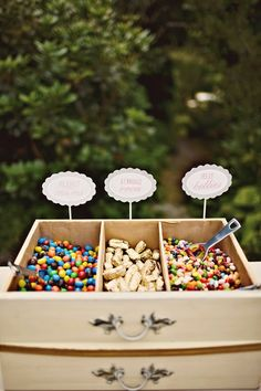 This is a pretty cool idea. Really, ideal for any party. Wedding Trends: Desserts