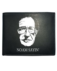awesome NOAM SAYING Cool Chomsky Print Men's Leather Wallet From FatCuckoo