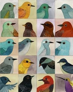 Bird Portraits. Combine nature study and art. Study varieties of birds in the local area. Each student might focus on one type of bird, research its habitat, observe its features, & produce a portrait. Turn students into mini-Audubons! Love it :-D