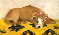-- 'Sleeping on Ikat' original oil painting. #Etsy