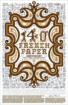 Charles S. Anderson Design Co. (CSA) collaborations with French Paper Co. over the past 40 years.