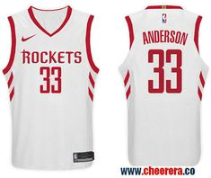 Nike NBA Houston Rockets  33 Ryan Anderson Jersey 2017 18 New Season White  Jersey Cycling 4bbb7e612