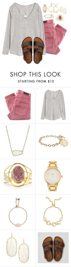 """~ Your perfect ~"" by livnewell ❤ liked on Polyvore featuring Nobody Denim, H&M, Kendra Scott, Alison & Ivy, Devon Leigh, Kate Spade and American Eagle Outfitters"