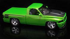 Sven's World Of Wheels features custom built model cars, design and illustration. Dodge Pickup, Ford Pickup Trucks, Ram Trucks, Dodge Trucks, Sport Truck, Dodge Dakota, Model Cars Kits, Dodge Chrysler, Truck Art
