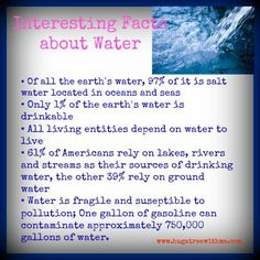 Eco Fact: Interesting facts about #Water
