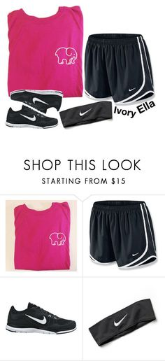 """""""Ivory Ella & Nike"""" by ivory-ella ❤ liked on Polyvore featuring NIKE"""