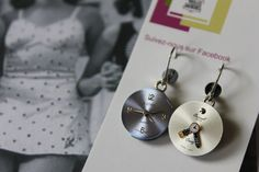 Boucles d'oreilles de la Collection À Chacun son Vintage Vintage Earrings, Washer Necklace, Creations, Etsy, Collection, Jewelry, Sling Bags, Ears, Boucle D'oreille