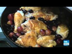 and rosemary harvest roast chicken with grapes olives and rosemary ...
