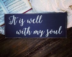It is Well wooden sign 12x14 by ParLaGrace on Etsy