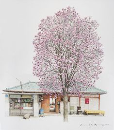 South Korean artist Me Kyeoung Lee sees beauty even in mundane everyday objects. Her sketches of local convenience stores is a charming and skillful take on what other people might miss out.
