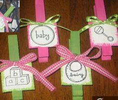 Simpsonized Crafts Baby Shower Clothespin Favors Baby Shower Favors Cheap  To Make