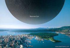 Una estrella de neutrones sobre la ciudad de Vancouver